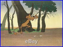 1961 Rare Warner Bros Rocky Lion Elmer Fudd Original Production Animation Cel