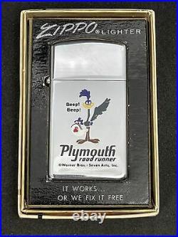 1968 Zippo PLYMOUTH ROAD RUNNER Warner Bros cartoon Rare! Unfired