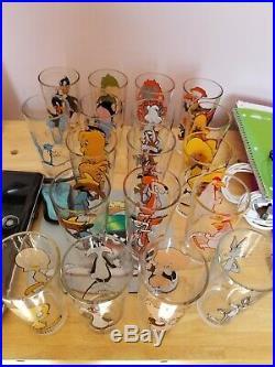 1973 Pepsi glasses LOONEY TUNES WARNER, Vintage, Brockway complete set, rare