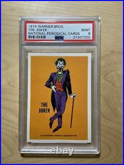 1974 Warner Bros. The Joker National Periodical Card PSA 9 LOWPOP RARE Batman DC