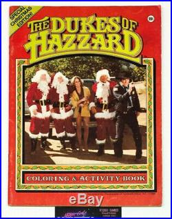 1980s Dukes Of Hazzard Coloring & Activity Book RARE Christmas Edition 1982