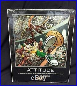 1998 RARE Looney Tunes Warner Bros. 16X20 Sports Motivational Posters Set of 5