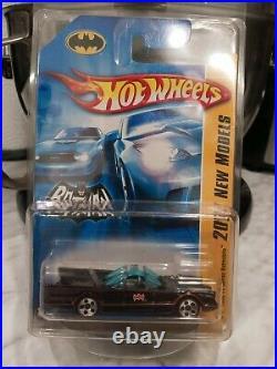 2007 Hot Wheels tv series batmobile SUPER RARE VARIATION 5 HOLE WHEELS VHTF