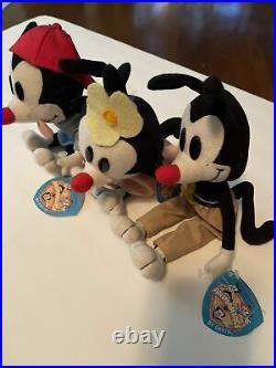 Animaniacs Yakko, Wakko, and Dot Warner Brothers Dakin Plush Rare Set Of 3