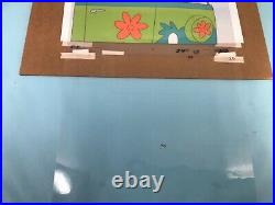 Animation Production Cels Scooby Doo Rare 5 Cel Setup With Background 1970s
