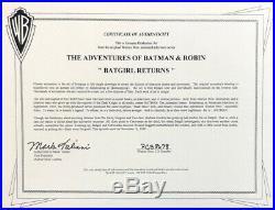 BRUCE TIMM rare BATGIRL cel BATGIRL RETURNS classic Batman BTAS WB COA