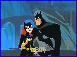 BRUCE TIMM rare BATMAN & BATGIRL Batcave cel COLD COMFORT episode BTAS WB COA