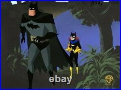 BRUCE TIMM rare BATMAN & BATGIRL Mean Seasons cel BTAS WB COA