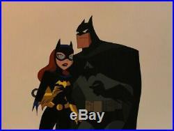 BRUCE TIMM rare BATMAN & BATGIRL cel COLD COMFORT Mr Freeze WB BTAS