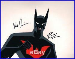 BRUCE TIMM rare BATMAN BEYOND Spellbound cel SIGNED 2x Will Friedle BTAS WB COA