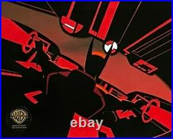 BRUCE TIMM rare BATMAN BEYOND cel BATMOBILE COCKPIT Black Out BTAS WB COA Batman