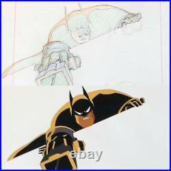 BRUCE TIMM rare BATMAN Close Up SET cel + drawing SUB ZERO movie BTAS WB COA