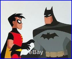 BRUCE TIMM rare BATMAN & ROBIN Chemistry cel BTAS WB COA Dynamic Duo
