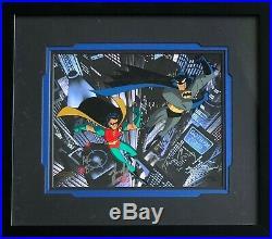 BRUCE TIMM rare BATMAN & ROBIN ltd AP cel FRAMED & SIGNED 5x BTAS WB COA