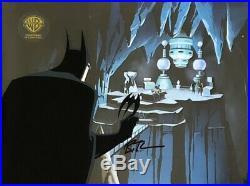 BRUCE TIMM rare BATMAN & SUPERMAN cel + OBG Ras Al Ghul SIGNED Demon Reborn COA