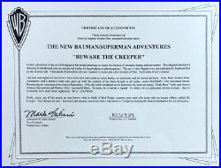 BRUCE TIMM rare HARLEY QUINN cel SIGNED 2x Beware The Creeper BTAS WB COA