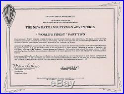 BRUCE TIMM rare JOKER & HARLEY QUINN cel + drawing SET SIGNED WB coa BTAS