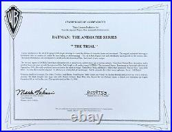BRUCE TIMM rare JOKER cel JUDGE classic THE TRIAL episode BTAS WB COA 3/4 shot