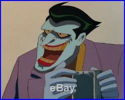 BRUCE TIMM rare THE JOKER cel ALMOST GOT UM classic Batman BTAS WB COA