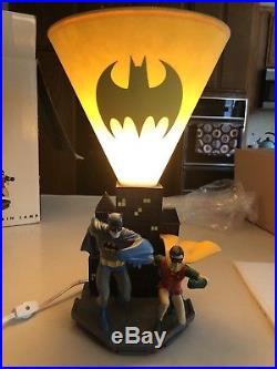 Batman And Robin Silver Age Lamp Warner Bros Studio Store 1999 RARE HTF