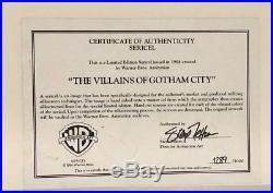 Batman Animated Seres Limited Edition Sericel Villains Of Gotham City Rare
