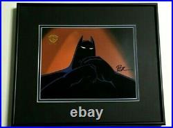 Batman Btas Original Production Cel & Art Both Signed Bruce Timm Wb Coa Rare Gif