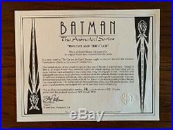 Batman & Catwoman Rare Limited Edition cel