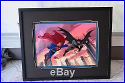 Batman & Superman Rare Limited Edition cel Signed