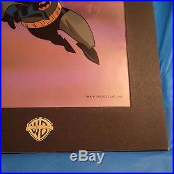 Batman The Animated Series Serigraph 1992 Fox /warner Brothers Rare