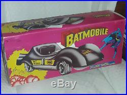 Batmobile Batman Italy Vintage 1970s Fabianplastica Vintage RARE