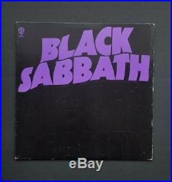 Black Sabbath Master of Reality LP Original Promo Vinyl Pressing RARE! NM