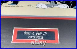 Bugs Bunny Cel Warner Brothers Bugs And Bull III Signed Chuck Jones Rare Cell