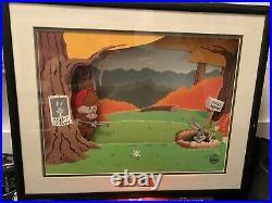 Bugs Bunny Elmer Fudd Animatronic Warner Brothers COA RARE Scene LOONEY TUNES