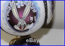Bugs Bunny Warner Bros Looney Tunes 1996 Vintage Glass Metal Lamp Very Rare Lamp