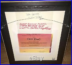 Bugs bunny cel warner brothers bugs sick carrot 2X signed chuck jones rare cell