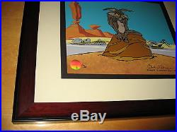 CHUCK JONES Road Runner, Coyote, I THINK THEREFORE I ACME, Hand-Signed CEL COA RARE