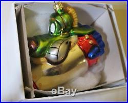 Christopher Radko K-9 Collectible NIB Ornament -Warner Bros. Very Rare