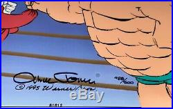Chuck Jones Animation Cel Signed Bugs Bunny And Crusher Rare Warner Bros Cell