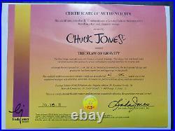 Chuck Jones Flaw Of Gravity Limited Ed Cel #4/25 Linda Jones Coa Ultra Rare