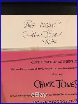Chuck Jones Signed Marvin The Martian Another Froggy Evening RARE ORIGINAL 1/1