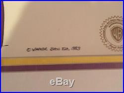 Daffy Ducks Fantastic Island Granny Production Cel Signed Friz Freleng 1983 Rare