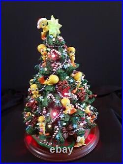 Danbury Mint Tweety Bird Lighted Christmas Tree Warner Bros Rare
