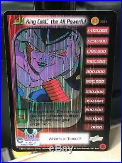 Dbz Ccg King Cold The All Powerful Lv4 Ultra Rare 160 Foil Trunks Saga Limited