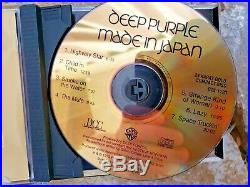 Deep Purple Made in Japan RARE DCC Warner Bros. 24 Karat Gold CD