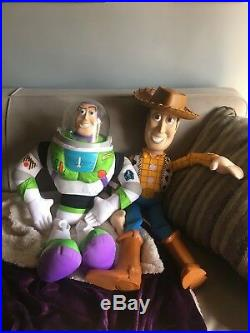 Disney's Toy Story RARE Buzz Lightyear and Woody Dolls 32 (Large) KB Toys 1999