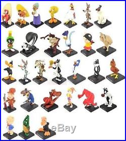 Extremely Rare! Looney Tunes Complete Set 29 Metal Figurine Small Statues