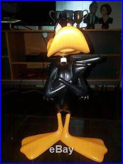 Extremely Rare! Looney Tunes Daffy Duck Standing Big Figurine Statue