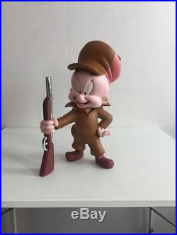 Extremely Rare! Looney Tunes Elmer Fudd Standing with Rifle Figurine Statue