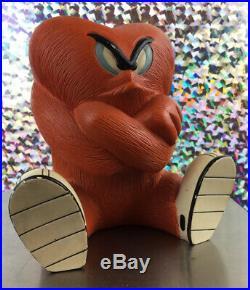 Extremely Rare! Looney Tunes Gossamer Hairy Orange Monster Sitting Fig Statue