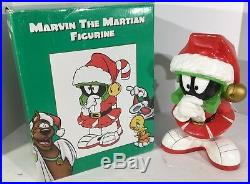 Extremely Rare Looney Tunes Marvin The Martian Big Christmas Figurine Statue IOB